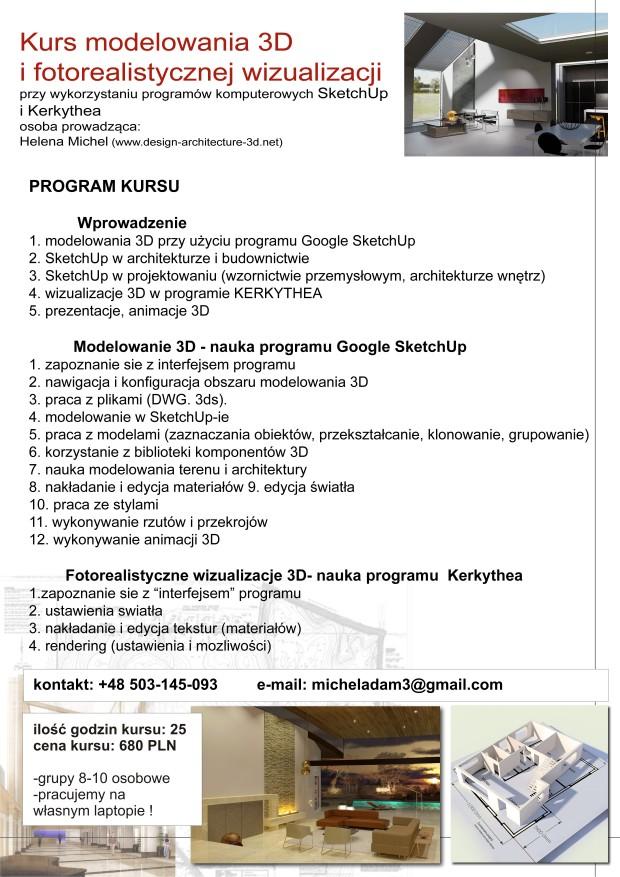 program kursu 3d