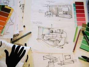 projektowanie wnetrz szkice