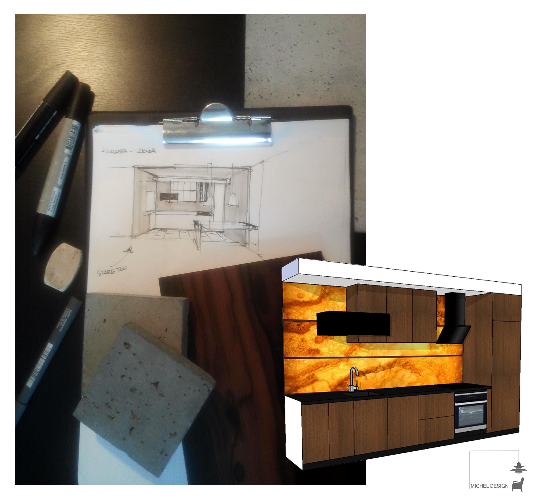 projekt mieszkania pokazowego  micheldesigns