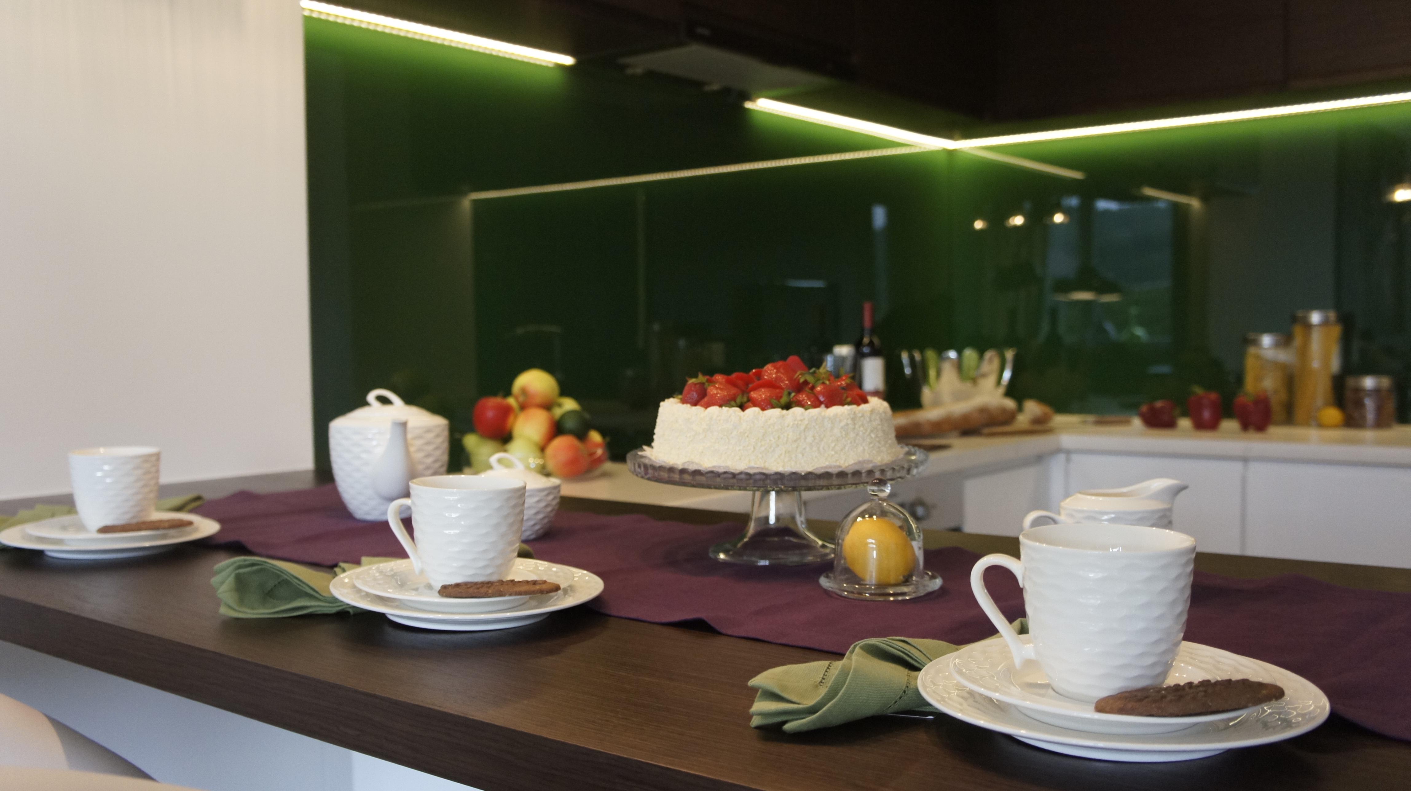Mieszkanie Pokazowe w Wejherowie  micheldesign -> Salon Kuchni Gdansk